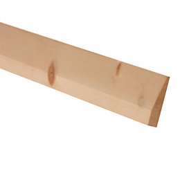 Softwood Mouldings Smooth Skirting (T)15mm (W)94mm (L)2400mm,