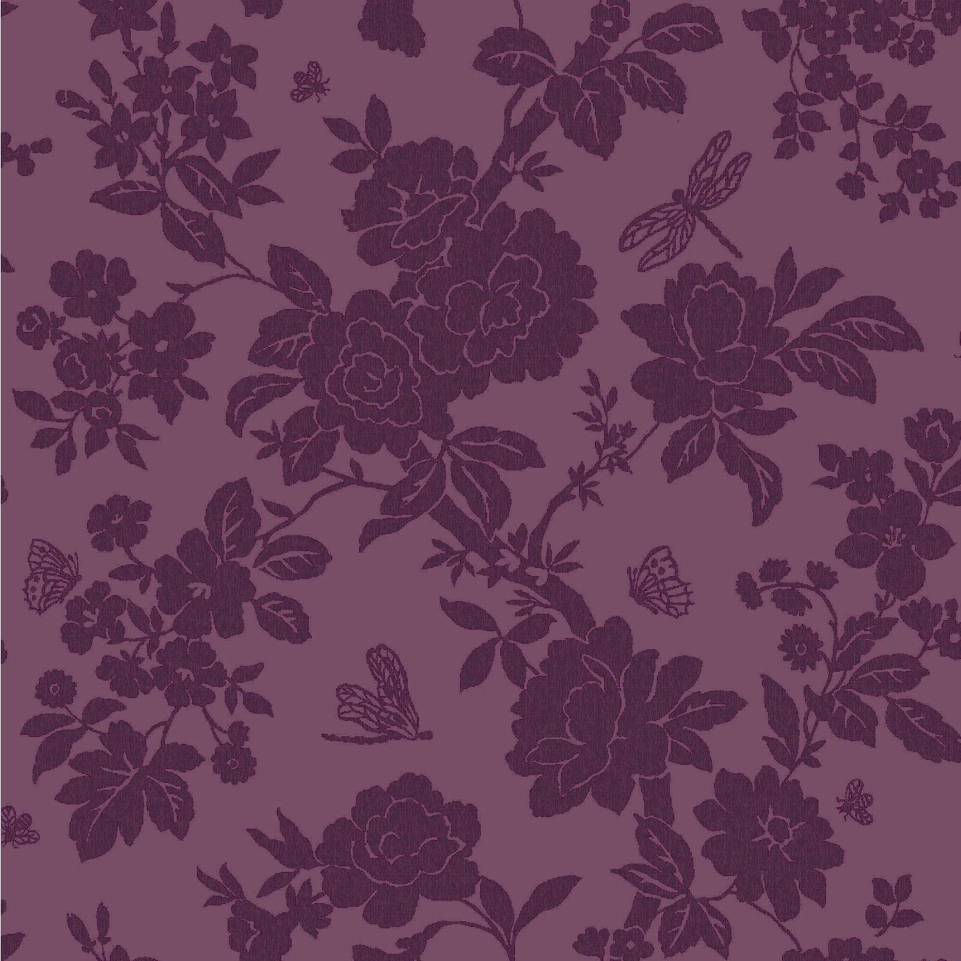 nina purple floral wallpaper departments diy at b q