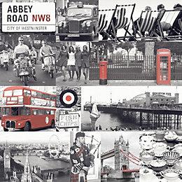 Abbey Road Black & White Photographic Wallpaper