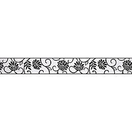 Abigail Black & White Floral Border