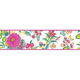 Cocktail Multicolour Floral Border