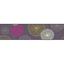 Starburst Grey, Pink & Yellow Border