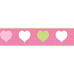 Hearts Multicolour Border