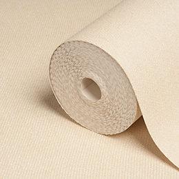 Statement Weave Opus Cream Plain Wallpaper