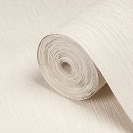 Opus Loretta Cream Plain Wallpaper
