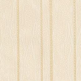 Opus Flame Stitch Cream Stripe Wallpaper