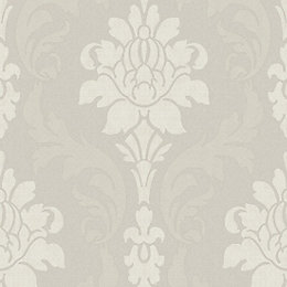 Opus Grazia Dove Damask Wallpaper