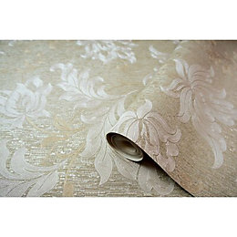 Opus Argentino Gold Floral Trail Wallpaper