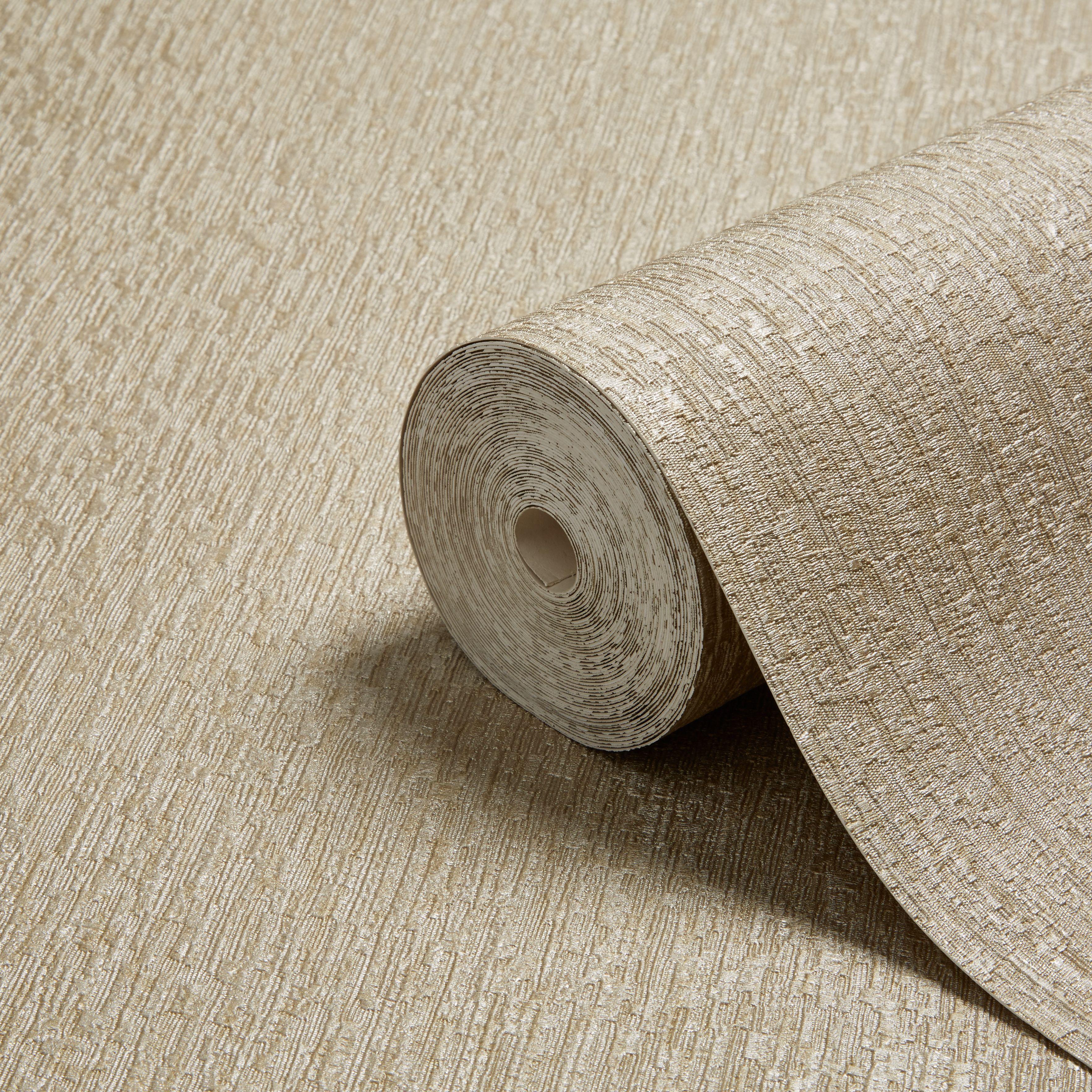 Opus Argentino Gold Textured Wallpaper Departments Diy