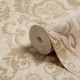 Opus Valentina Gold Damask Trail Wallpaper