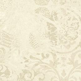 Opus Roselea Cream Texture Metallic Mica Wallpaper