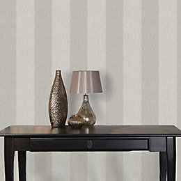 Statement Silver Effect Harrison Glitter Effect Wallpaper