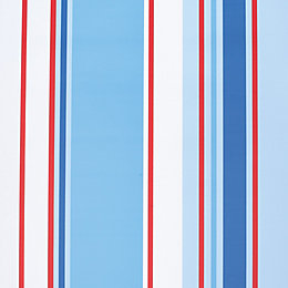 Holden Décor Paige Blue, Red & White Stripe