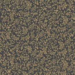 K2 Sasha Black & Gold Effect Geometric Wallpaper