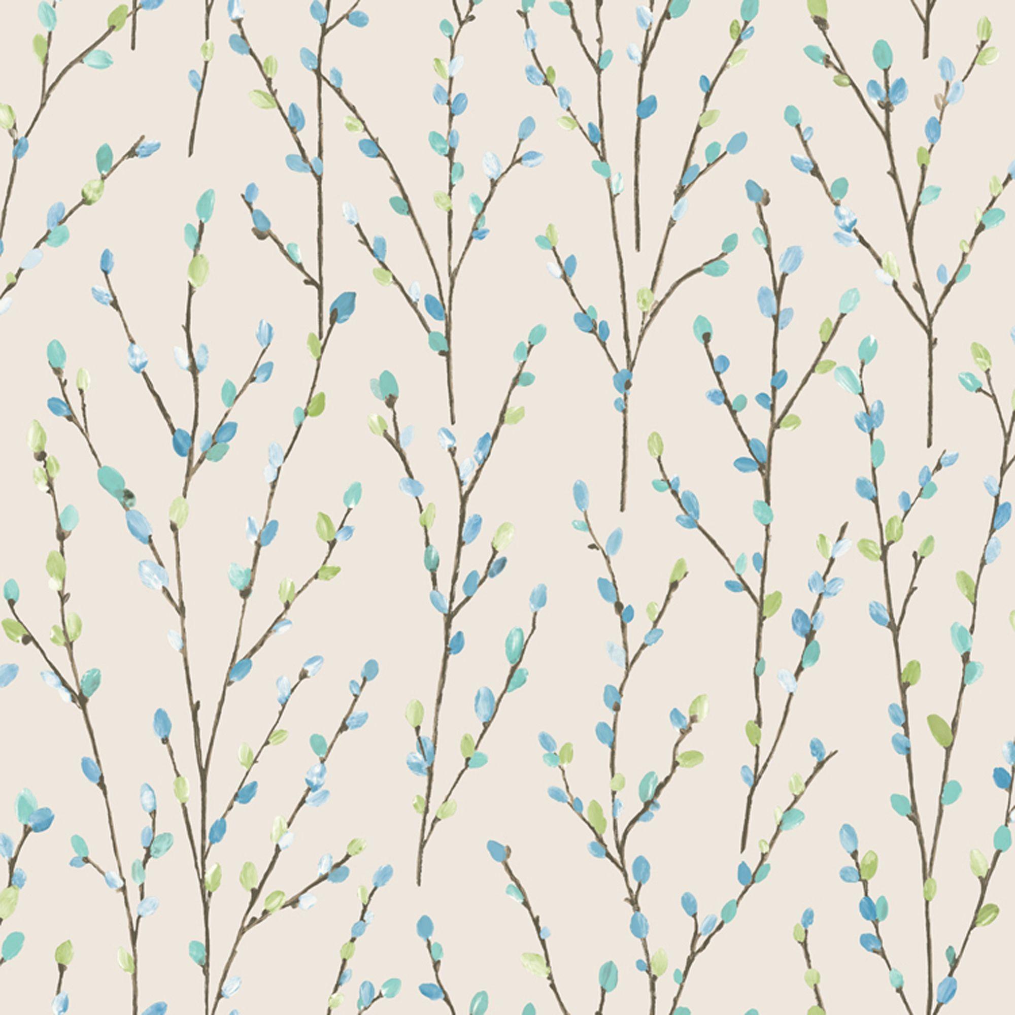 Holden Hazel Cream Trail Glitter Highlight Wallpaper