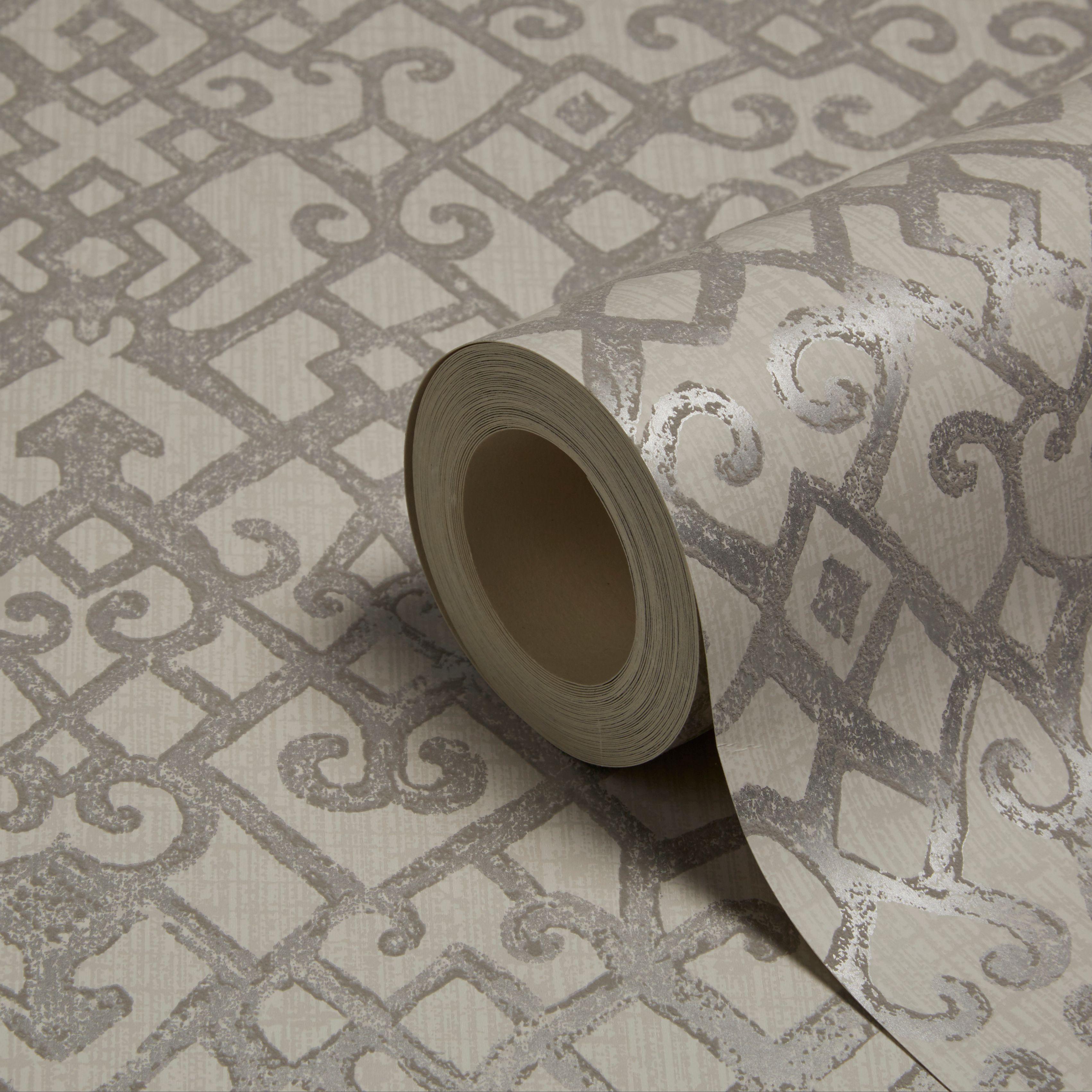 holden d cor camden grey trellis wallpaper departments. Black Bedroom Furniture Sets. Home Design Ideas