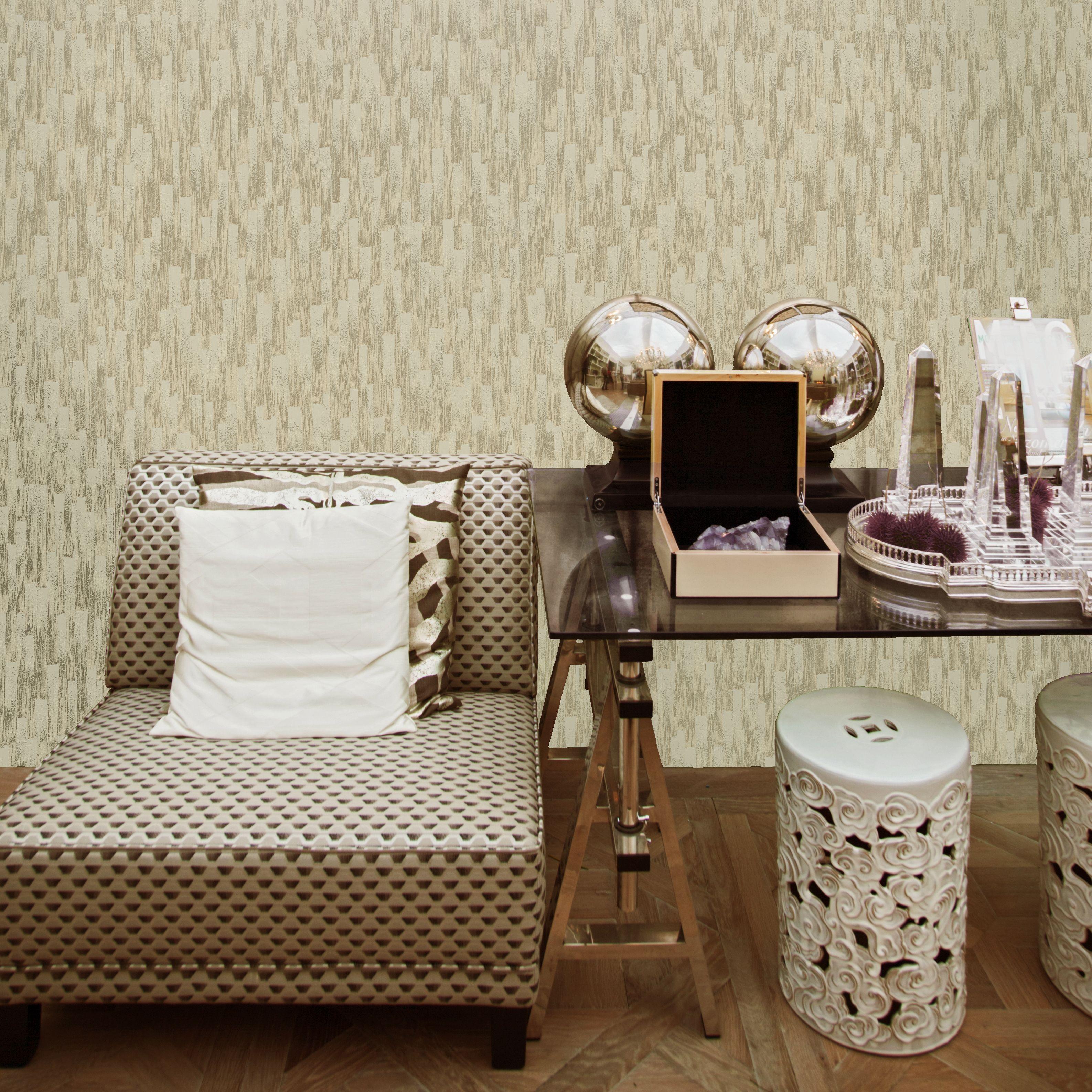 Statement Cream & Gold Orion Glitter Effect Wallpaper
