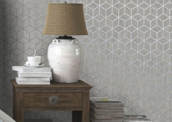Geometric Wallpaper. Wallpaper   Painting   Decorating   DIY at B Q