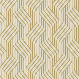 Pembrey Gold Geometric Glitter Highlight Wallpaper