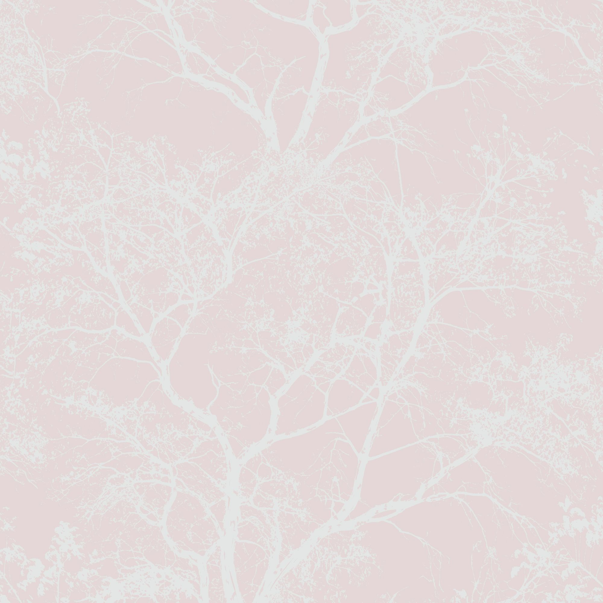Statement Whispering Pink Trees Glitter Effect Wallpaper