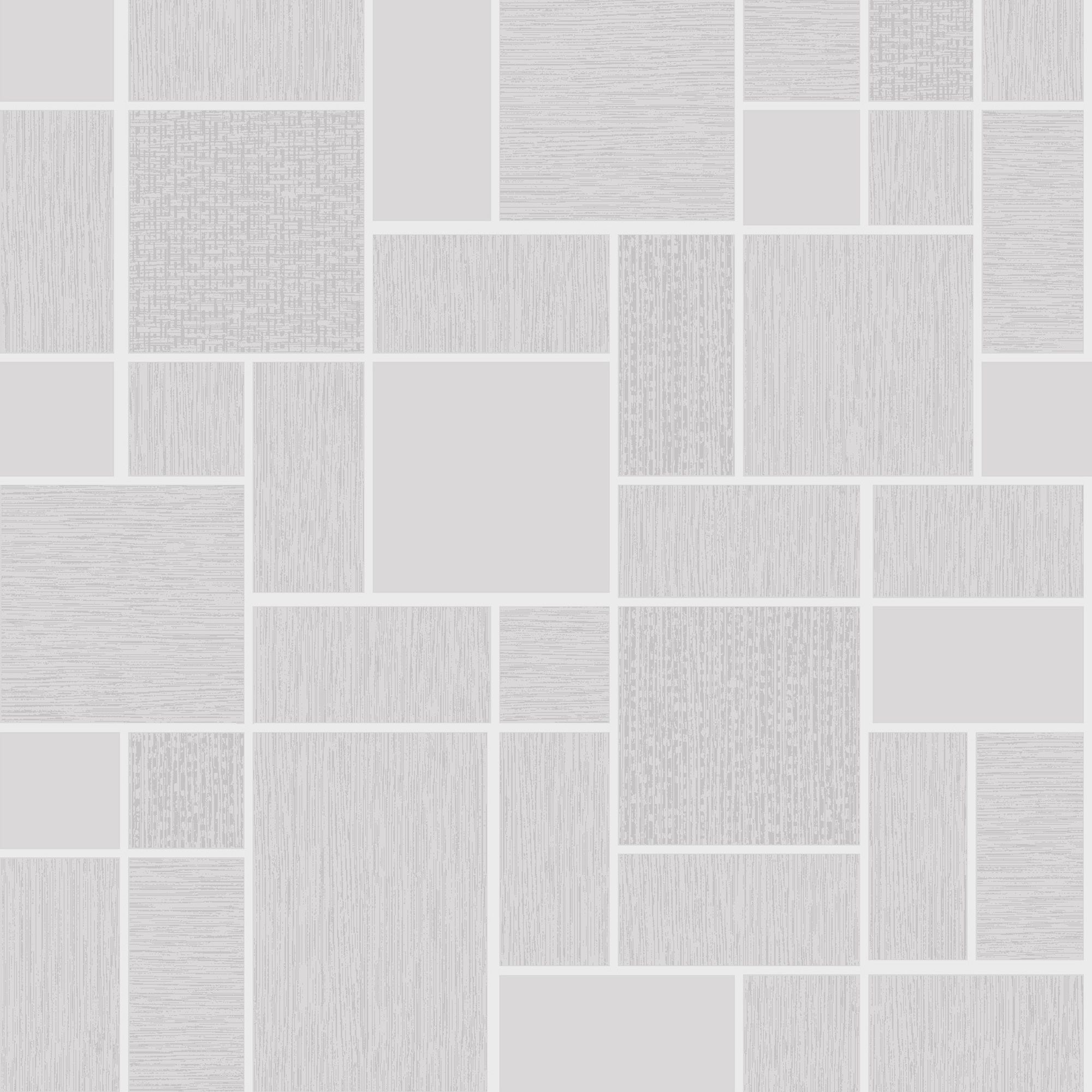 Holden Décor Tiling On A Roll Grey Glitter Tile Wallpaper