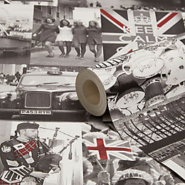 Holden Décor Rule Britannia Black & Red Photographic