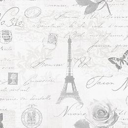 Holden Décor Calligraphy Grey Wallpaper