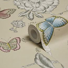 Holden Décor Keilena Plum Floral Wallpaper