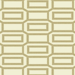 Holden Décor Links Beads Cream Geometric Wallpaper