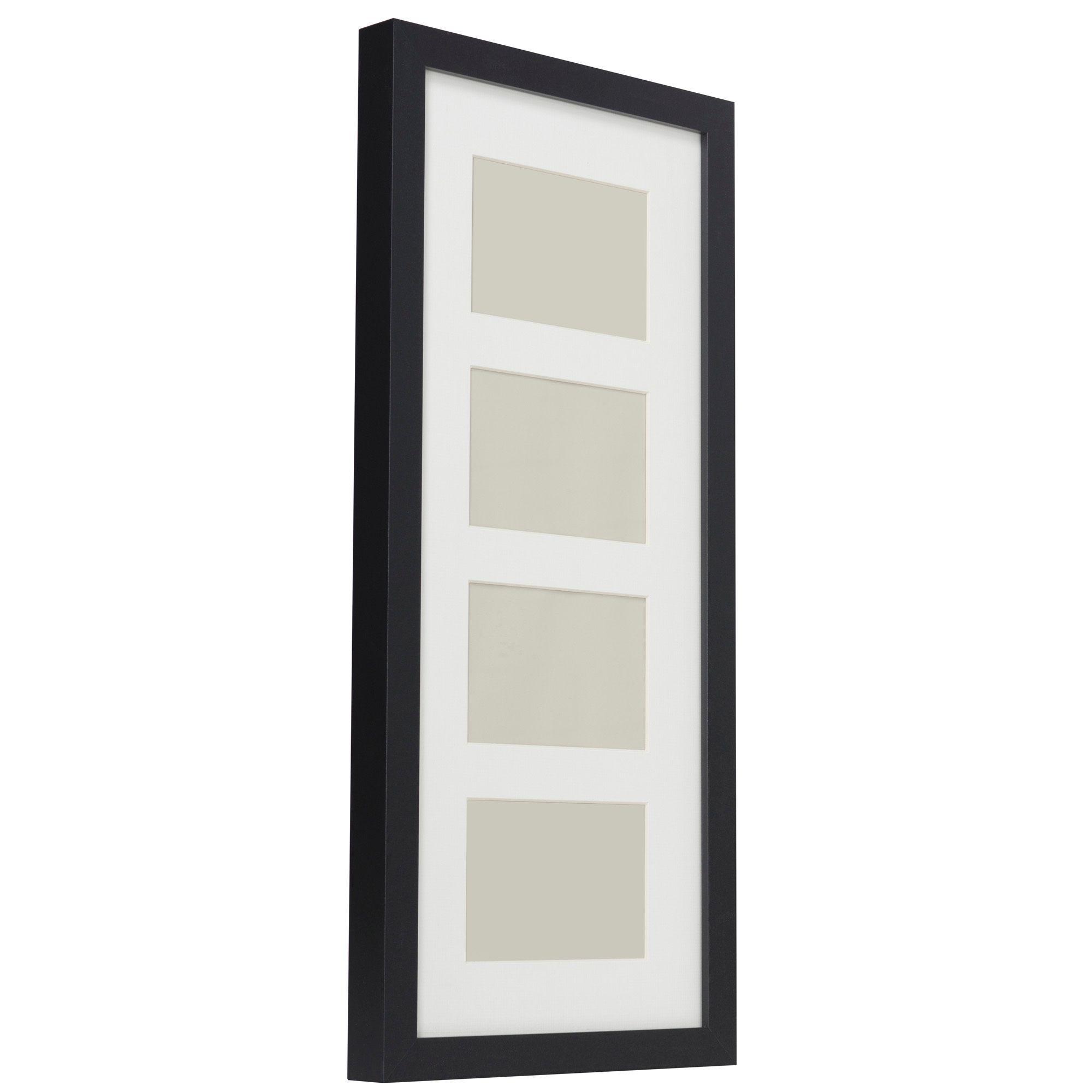 Black Multi Aperture Wood 4 Aperture Picture Frame H 64cm