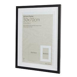 Black Wood Picture Frame (H)74cm x (W)54cm