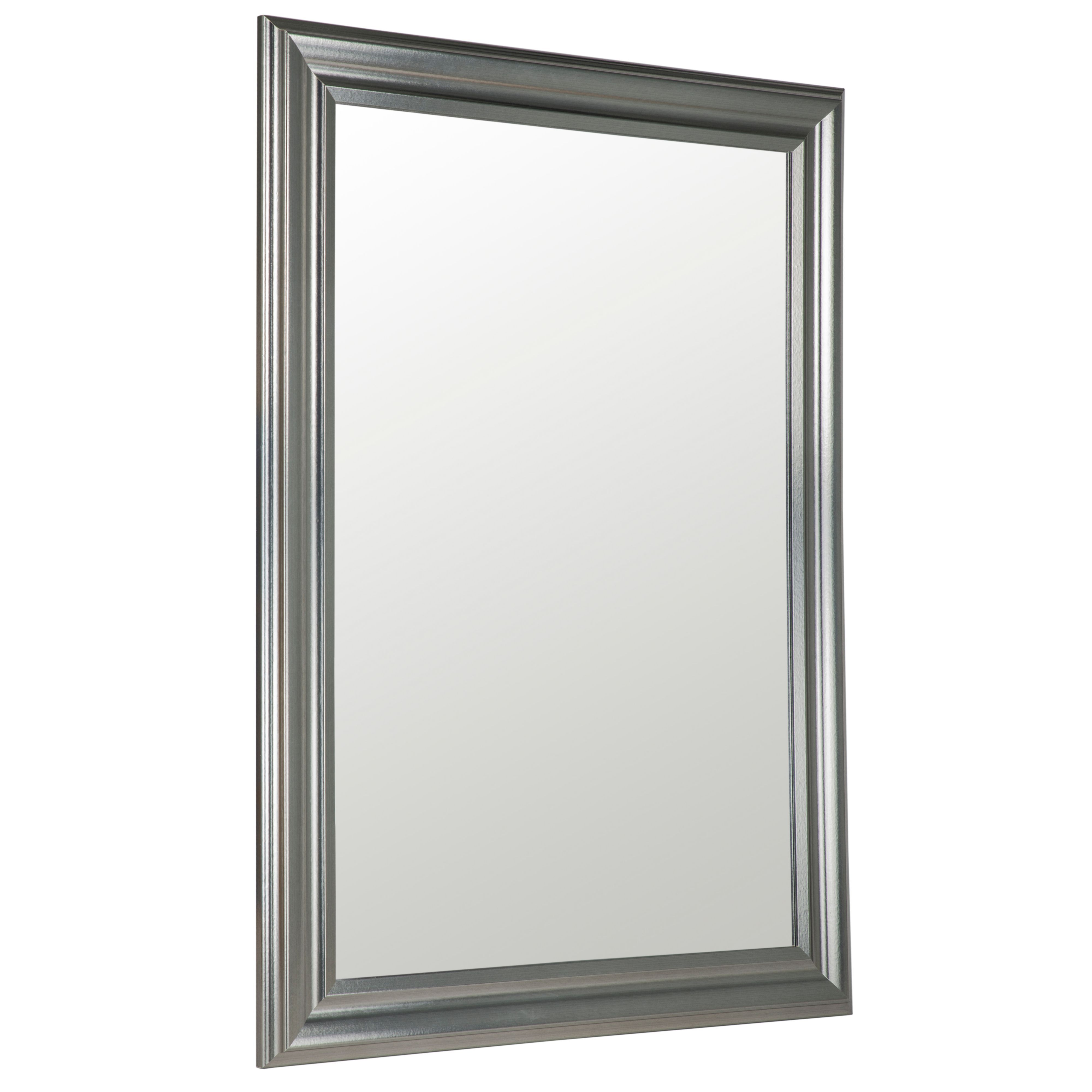 Pewter Effect Framed Rectangular Wall Mirror (h)1060mm (w) 1060mm