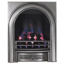 Arch Satin Chrome Manual Control Inset Gas Fire