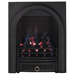 Arch Black Manual Control Inset Gas Fire