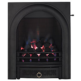 Focal Point Arch Black Slide Control Inset Gas
