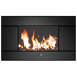Evoke Black Remote Control Wall Hung Electric Fire