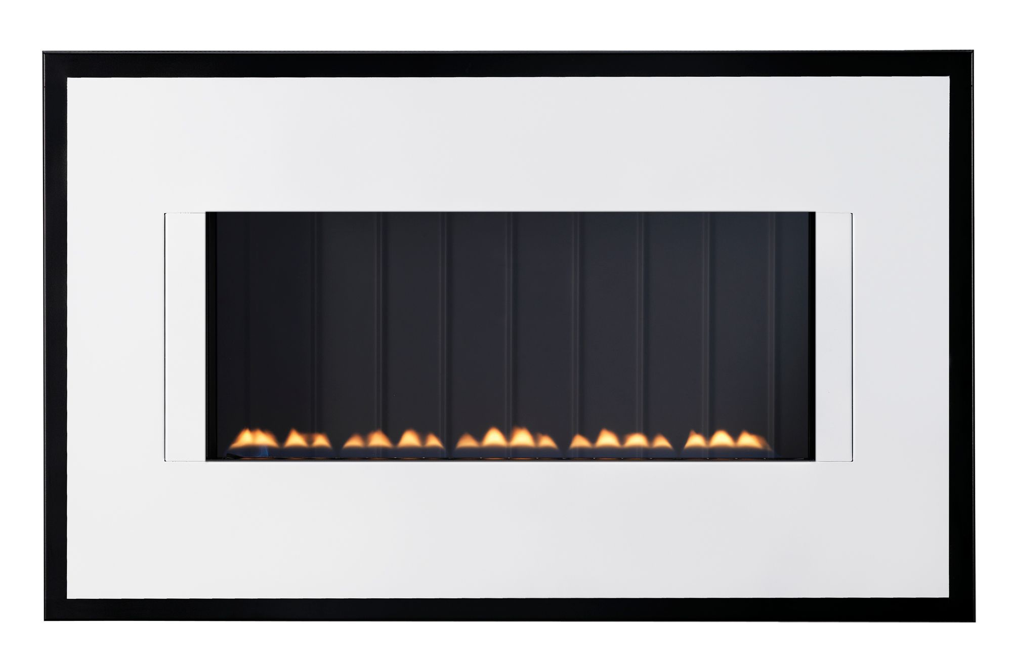 focal point midnight black manual control wall hung gas fire