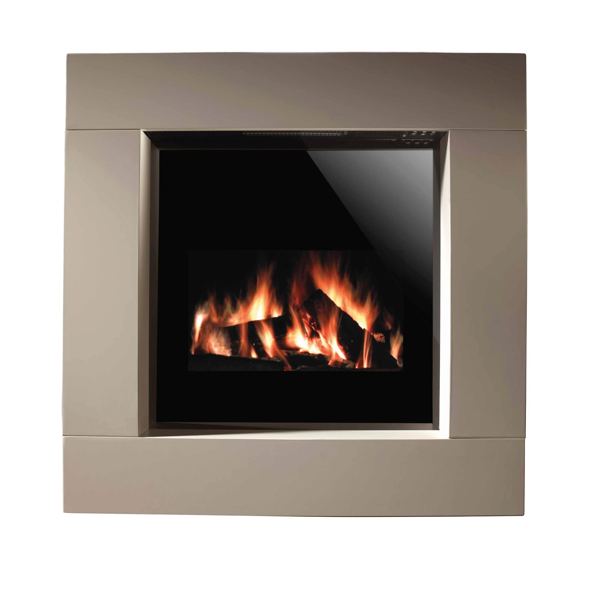 Focal Point Electric Fire: Focal Point Elegance Chrome Inset Gas Fire Suite