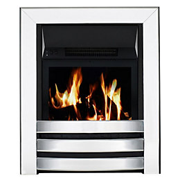 Langham Aluminium Effect LCD Remote Control Electric Fire