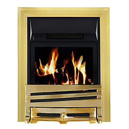 Horizon Brass LCD Remote Control Inset Electric Fire