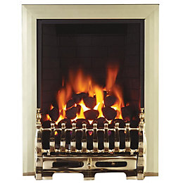 Blenheim Brass Remote Control Inset Gas Fire