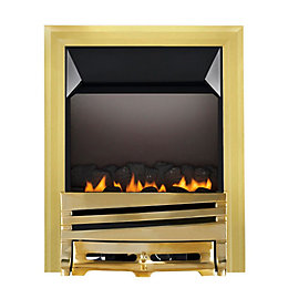 Horizon Flue Less Brass Effect Manual Control Inset