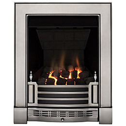 Finsbury Multi Flue Chrome Remote Control Inset Gas