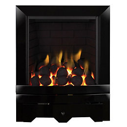 Noir Black Manual Control Inset Gas Fire