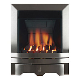 Chrome Multi Flue Satin Chrome Manual Control Inset