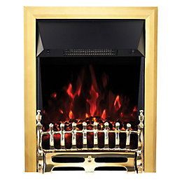 Focal Point Blenheim Brass LED Electric Fire