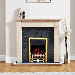 Blenheim Brass Electric Fire Suite