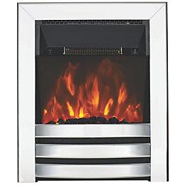 Langham Aluminium Effect LED Electric Fire