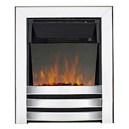 Focal Point Langham Chrome LED Reflections Electric Fire