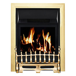 Blenheim Brass LCD Remote Control Inset Electric Fire